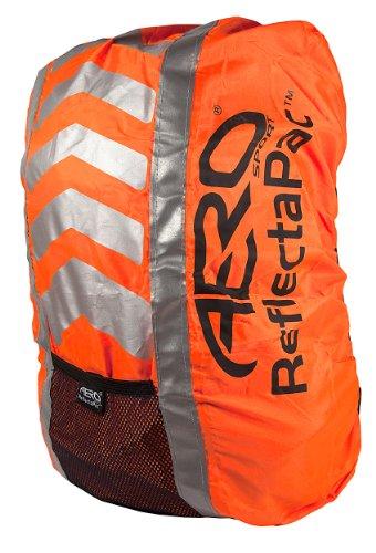 Aero Sport® ReflectaPacTM 3M Scotchlite Hi Viz Waterproof Rucksack Backpack Cover Orange (Seconds)