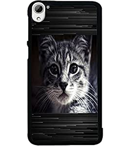 ColourCraft Cat Look Design Back Case Cover for HTC DESIRE 826