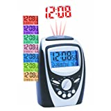 Precision Radio Controlled 7 Colour LCD Display Projection Alarm Clock PREC0094