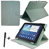 Luxury Blue Crocodile Leather Case Cover Stand for Fujitsu Stylistic M532 10.1'' 10.1 INCH ANDROID TABLET PC + Stylus Pen