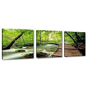 Quadro su tela natura 150 x 50 cm 3 tele modello nr XXL 4216. I quadri sono montati su telai di vero legno.    recensione Voto