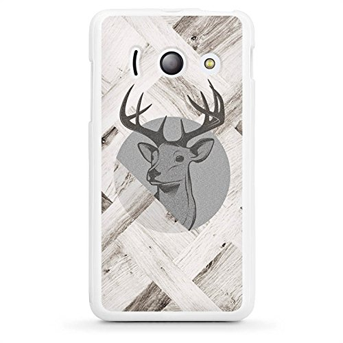 huawei-ascend-y300-housse-etui-silicone-coque-protection-cerf-bois-foret
