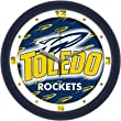 "Toledo Rockets Suntime 12"" Dimension Glass Crystal Wall Clock - NCAA College Athletics"