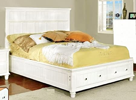 WelcomeiHome .INC Willow Creek Traditional Style White Finish Full Size Bed Frame at Sears.com