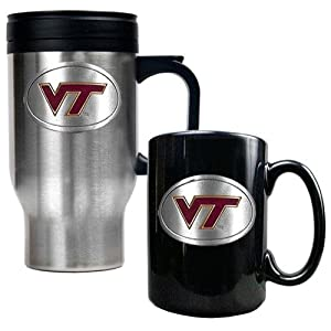 Great American Products Virginia Tech Hokies Stainless Steel Travel Mug & Ceramic... by Great American Products