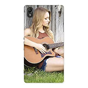Cute Girl Guitar Back Case Cover for Sony Xperia Z2