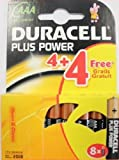 BRAND NEW 8 x DURACELL PLUS AAA LR03 MN2400 1.5v ALKALINE BATTERIES EXP 2017 FREEPOST UK