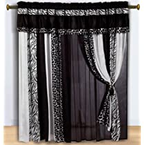 Black and White Micro Fur Curtain