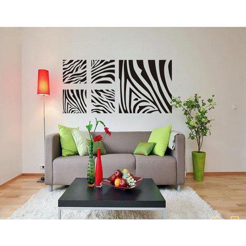 "23.6"" X 45.3"" Diy Black Zebra Print Stripe Heart Wall Art Decal Stick Bedroom Dorm Living Room Nursery Decor And Home Decoration front-525981"