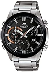 Casio Edifice Ana-Digi ERA500DB-1A Silver Black Rose Gold Stainless Steel Chronograph watch Dual Dial ERA500 series