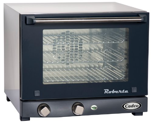Cadco OV-003 Compact Quarter Size Convection Oven with Manual Controls, 120-Volt/1450-Watt, Stainless/Black (Convenience Oven compare prices)