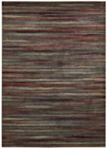 Big Sale Nourison Interpretations Multicolor Stripe 9.6-Feet by 13.6-Feet Polyacrylic Room Sized Rug