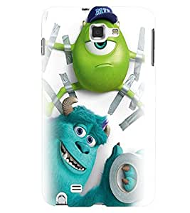 Printvisa Animated Double Monster Pic Back Case Cover for Samsung Galaxy Note i9220::Samsung Galaxy Note 1 N7000