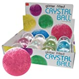 Glitter Filled Crystal Ball Large - One Random Colored Ball