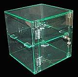 Vitrine verrouillable Effet verre acrylique 300 x 300 x 300 mm-vitrines de magasins de vente au détail