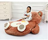 Bear Sofa Sleeping Bag Single Bed Mattress Pad for Adult or Kid(Brown,78*43In)