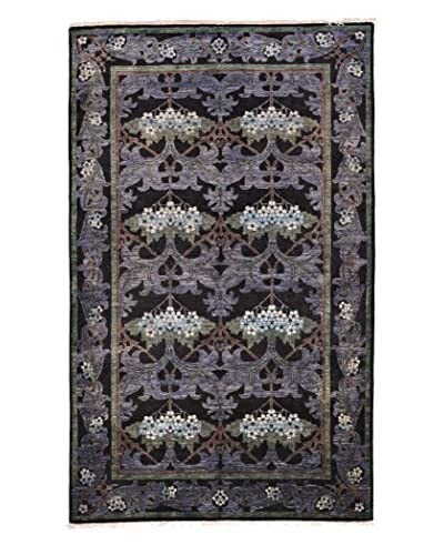Darya Rugs Modern Oriental Rug, Purple, 4′ 10″ x 7′ 10″