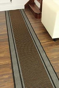 Alfombra a medida para pasillo escalera color naranja gris - Alfombras pasillo a medida ...
