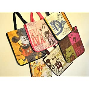 Disney Mickey Mouse Reusable Tote Bags Set of 6 Styles 2 Sizes