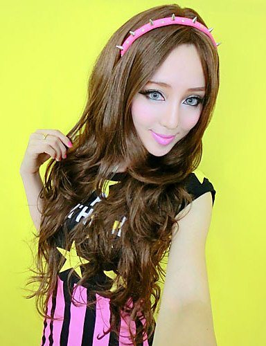 Wigs have an attractive convenience fashion Sexy Girls Fashion Style Curly Long Hair Human (Danny Sandy Costumes)