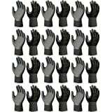 Atlas Fit 370 Universal Black Extra-Small XS Nitrile Garden Work Glove, 12-Pairs