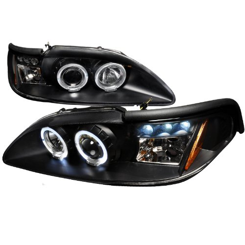 94-98 FORD MUSTANG LED HALO BLACK PROJECTOR HEAD