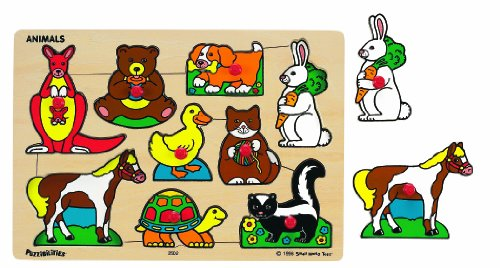 Small World Toys Ryan's Room - Classic Wooden Puzzle - Animals - 1