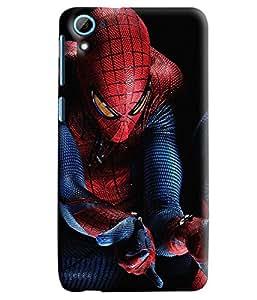 Blue Throat Spider Man Printed Designer Back Cover/Case For HTC Desire 826