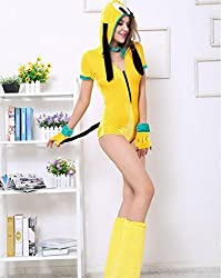 Halloween costume, yellow dog role play uniforms, party Club stage costumes