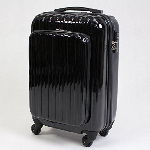 TSAロック標準搭載 フロントオープン スーツケース DC-9917 黒 / 36L /DC-9917-BK/###ケースDC-9917黒###