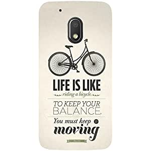 Casotec Life Pattern Print Design 3D Printed Hard Back Case Cover for Motorola Moto G4 Play