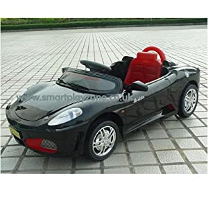 Battery Powered Ferrari F430 Spyder Style Ride on Car with Remote - Black