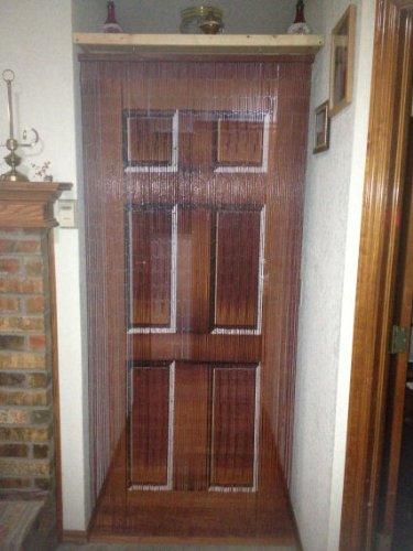 Wooden door beaded curtain 125 strands hanging hardware for Hardware for hanging curtains