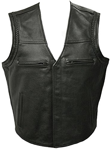 Leather Motorcycle Waistcoat - Anarchy