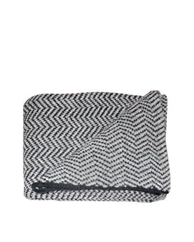 Mili Designs Spring Zig Zag Throw, Grey/Black