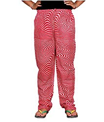 Bright & Shining Women Red Cotton Pyjama