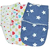 LUXEHOME Lovely Baby Swaddle Polyester Fleece Blanket, Set Of 3