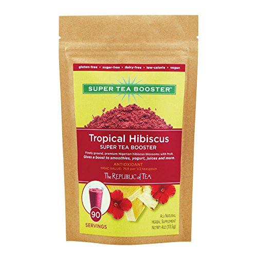 The Republic Of Tea Tropical Hibiscus Super Tea Booster, 4 Ounces/90 Servings