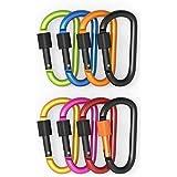 AmyTalk Aluminum Alloy D-ring Locking Carabiner Keychain Spring Clip Lock Carabiner Hook, Idea Outdoor Camping...