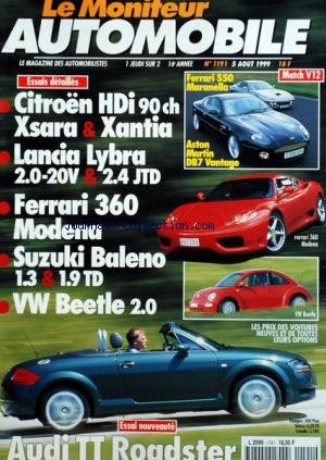 moniteur-automobile-le-no-1191-du-05-08-1999-essais-ferrari-550-maranello-astonmartin-db7-vantage-ci