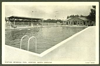 sanford swimming pool sanford nc postcard 1939 at amazon 39 s entertainment collectibles store