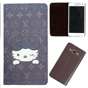 DooDa - For Blackberry Z3 PU Leather Designer Fashionable Fancy Flip Case Cover Pouch With Smooth Inner Velvet