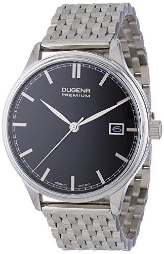 Dugena  Dugena Premium - Reloj de cuarzo para hombre, con correa de acero inoxidable, color plateado