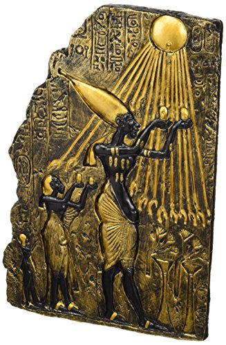 Design Toscano Pharaoh Akhenaten Offering to Aten the Sun Wall Sculpture