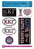 Kappa Kappa Gamma Sticker Sheet - American Theme. 8.5
