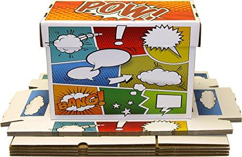 5-BCW-Art-POW-Short-Comic-Storage-Boxes-Holds-150-175-Comics-BCW-BX-SHORT-ART-POW