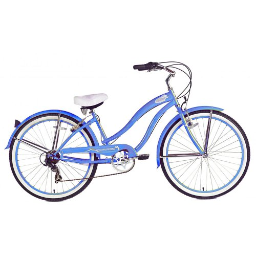 Micargi Rover 7-Speed Beach Cruiser Bike, Baby Blue, 26-Inch