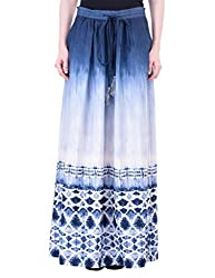 Oxolloxo Women blue maxi skirt