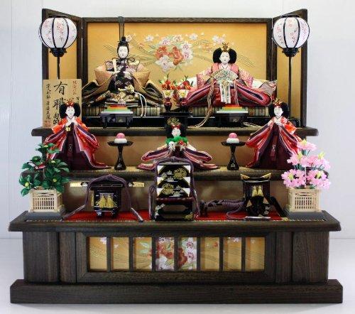 90 silk yusoku wind textile dress, costume chicks ware Tung mat with three ferrochrome