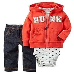 Carter\'s Baby Boys\' 3 Piece Cardigan Set (Baby) -Hunk-6M